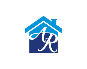 A R Letter And House Logo 1
