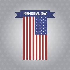 Vector Memorial Day banner