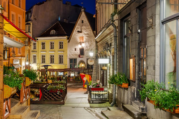 amazingly beautiful street in Tallinn's old town. Interesting street which is beside the town hall...