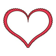 heart love frame icon vector illustration design