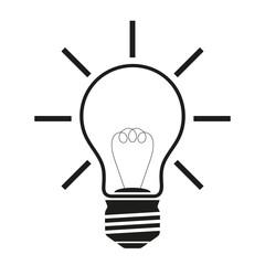 Lightbulb on white background