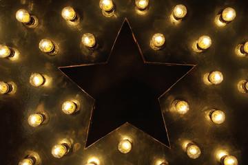Big star and lots of light bulbs