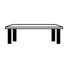 small table isolated icon vector illustration design