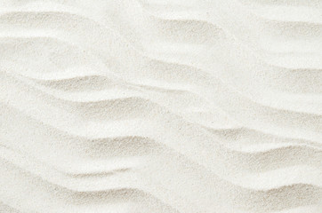 White sand texture background with wave pattern Wall mural