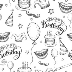 Seamless Happy Birthday background
