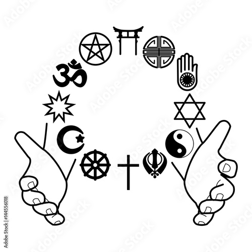 Hands With Combination Of Religious Symbols Symbols Of Major