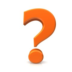 question mark 3d orange isolated symbol sign icon three-dimensional