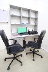 Interior of an office working place