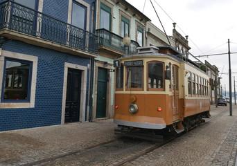 An old tram in Porto