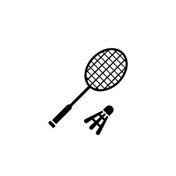 badminton racket with shuttelcock