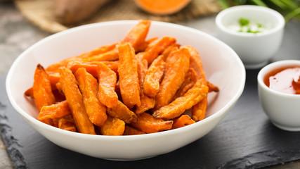 Süßkartoffelfritten - sweet potato frites