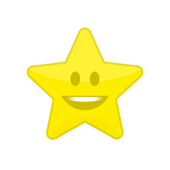 Star icon with smile.