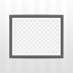 Black photo frame.