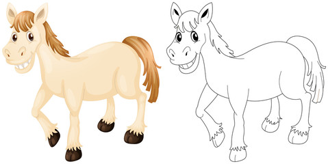 Animal outline for happy horse