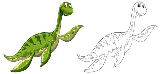 Animal outline for dinosaur
