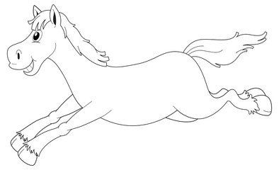 Animal outline for horse running
