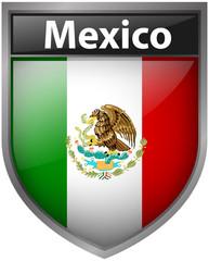 Mexico flag on badge design