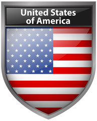 Badge design for United States of America flag