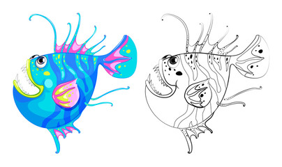 Animal outline for fancy fish