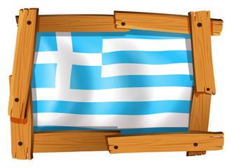 Greece flag in square frame