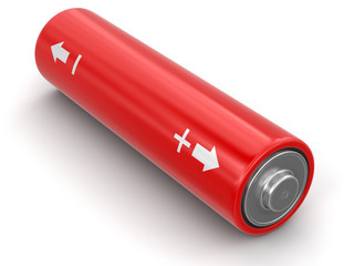 Battery. Image with clipping path