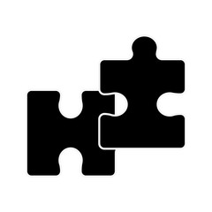 silhouette piece puzzle mental game line icon
