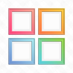 Set of colorful square frames.