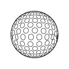 Golf sport game icon vector illustration graphic design