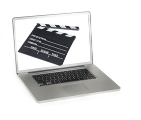 Computer film making editing concept image