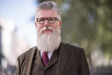 Portrait of fashionable senior male