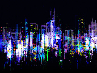 Abstract City Light Background