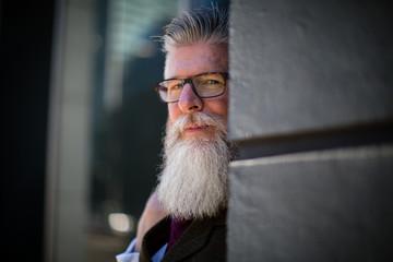 Portrait of senior with beard