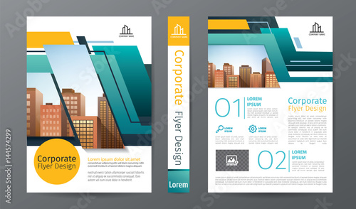 business brochure or flyer template annual report or book cover
