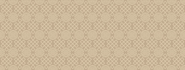Asian background. Chinese and Japanese style. Vector seamless pattern