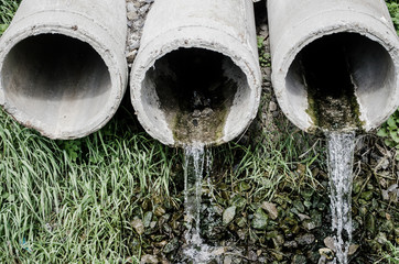 Waste pipe or drainage polluting environment Through concrete pipes