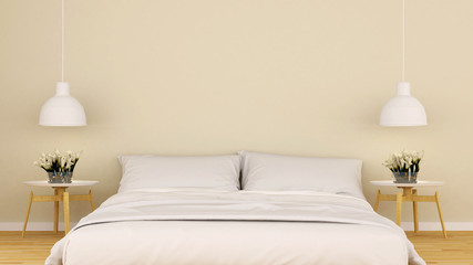 bedroom in house or condominium-3D rendering
