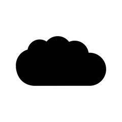 black contour cloud weather icon isolated