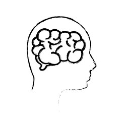 contour mental health person with brain