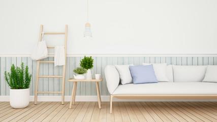 living area in condominium or house - 3D Rendering
