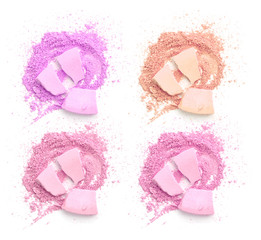 Colors shade pink tone powder make up
