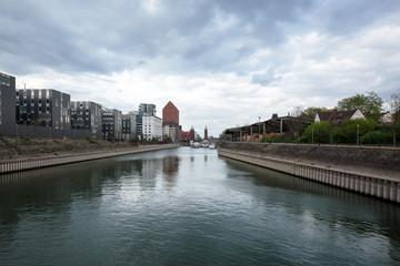 View towards Swangate-Bridge at Duisburg /Germany