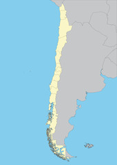 Vector map of Chile