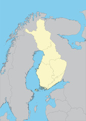 Vector map of Finland