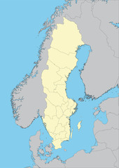 Vector map of Sweden