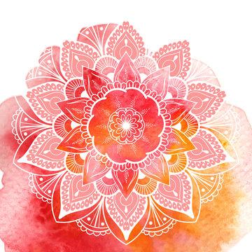 Decorative floral mandala. Vector illustration