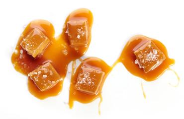 homemade salted caramel pieces