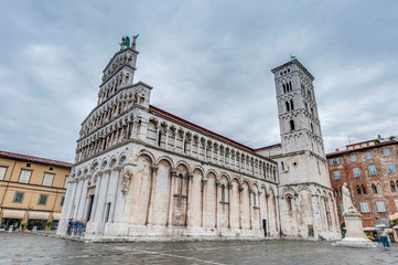 San Michele in Foro church in Lucca, Italy