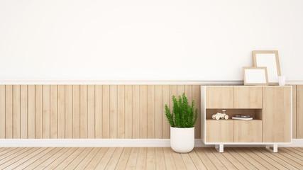 living area in coffee shop or kid room- 3D Rendering