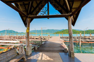 Wooden pier on Koh Chang
