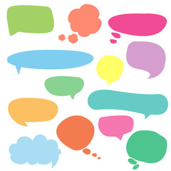 A collection of vector speech and thought communication bubbles,dialog balloons